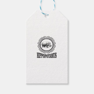 Framed Hippo Gift Tags