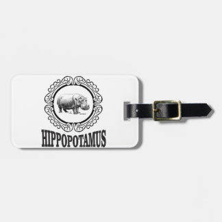 Framed Hippo Luggage Tag