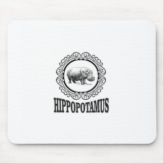 Framed Hippo Mouse Pad