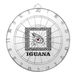 framed iguana yeah dartboard