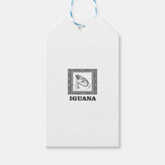 framed iguana yeah gift tags