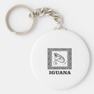 framed iguana yeah keychain