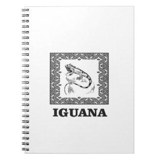 framed iguana yeah spiral notebook