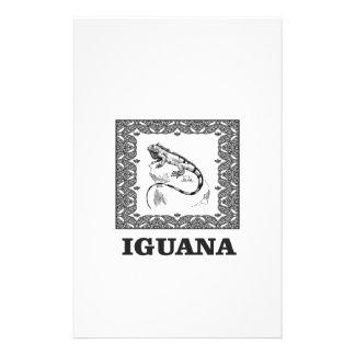 framed iguana yeah stationery