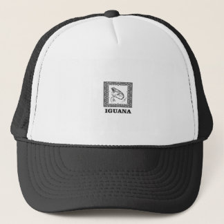 framed iguana yeah trucker hat