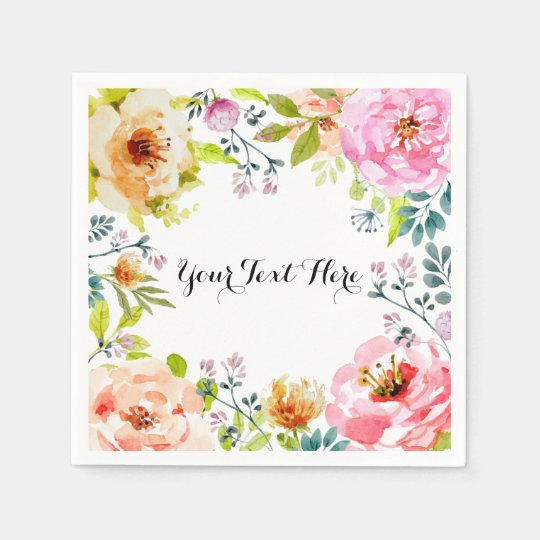 Framed in Floral Paper Napkins