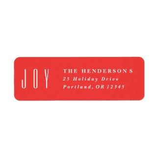Framed Joy | Return address label