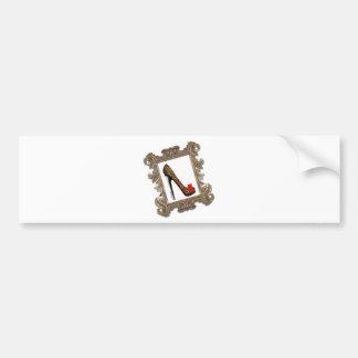 Framed Leopard Stiletto Pump Bumper Sticker