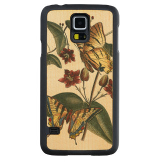 Framed Painting of Butterflies and Flowers Maple Galaxy S5 Case