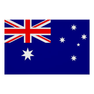 Framed print with Flag of Australia