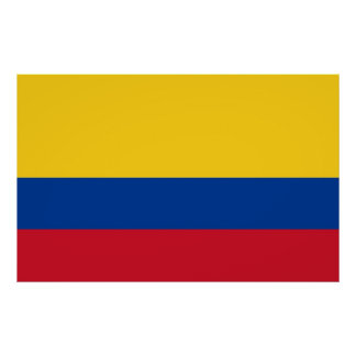 Framed print with Flag of Colombia