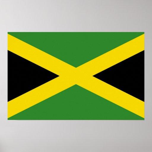 Framed print with Flag of Jamaica