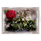 Framed Red Mini Rose Zephaniah 3:17 Greeting Card