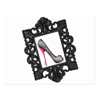Framed Reptile Stiletto Logo Postcard