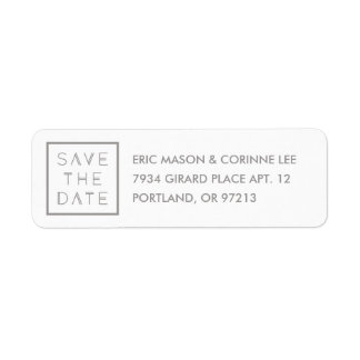 Framed Save the Date Mailing Label - Smoke Return Address Label
