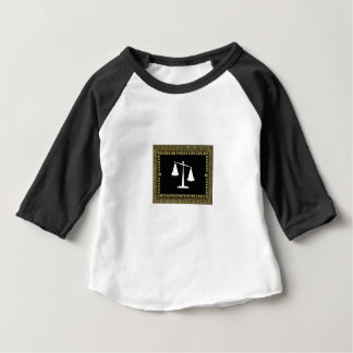 framed scales of justice baby T-Shirt