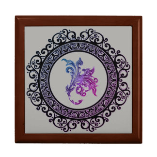 framed tattoo lily design gift box