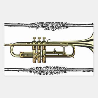 framed trumpet in gold