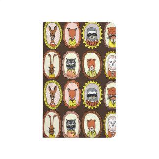 Framed Woodland Animals Fox Sloth / Andrea Lauren Journals