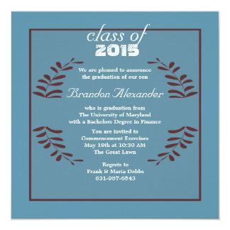Framed Wreath Graduation Invitation
