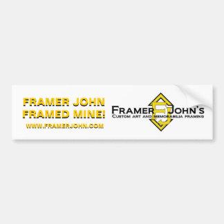Framer John's Bumper Sticker