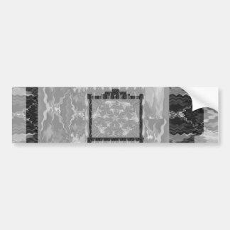 Frames of Black n White Art - Add text or image Bumper Sticker