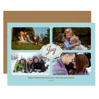 Frames of Joy Holiday 4-photo Card
