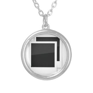 frames silver plated necklace