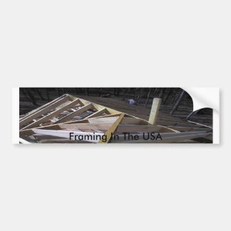 Framing In The USA Bumper Sticker