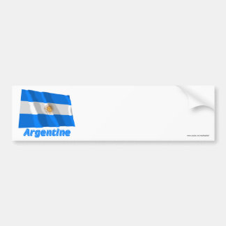 Français argentins de Drapeau avec le nom en Autocollant De Voiture