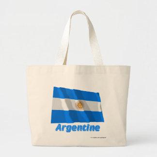 Français argentins de Drapeau avec le nom en Sac En Toile
