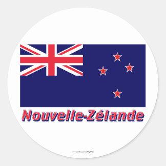 Français d'avec le nom en de Nouvelle-Zélande de Sticker Rond