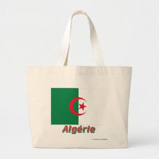 Français de Drapeau Algérie avec le nom en Sac