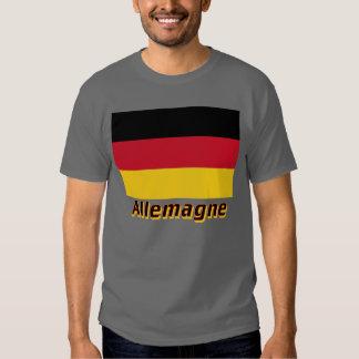 Français de Drapeau Allemagne avec le nom en Tshirts
