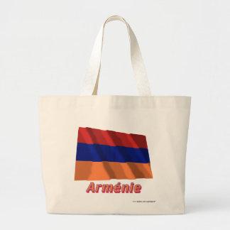 Français de Drapeau Arménie avec le nom en Sacs En Toile