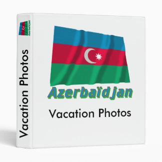 Français de Drapeau Azerbaïdjan avec le nom en