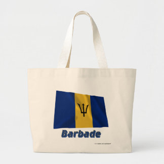 Français de Drapeau Barbade avec le nom en Sac Fourre-tout