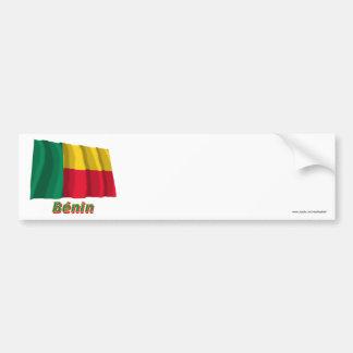 Français de Drapeau Bénin avec le nom en Autocollant De Voiture