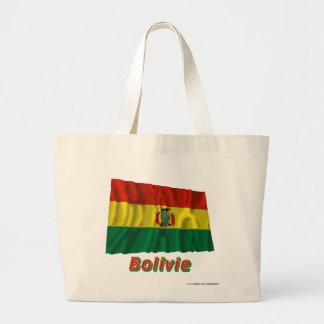 Français de Drapeau Bolivie avec le nom en Sacs