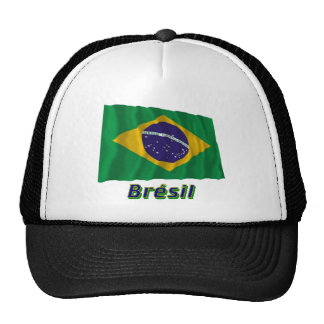 Français de Drapeau Brésil avec le nom en Casquettes De Camionneur