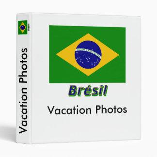 Français de Drapeau Brésil avec le nom en