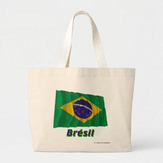 Français de Drapeau Brésil avec le nom en Sac