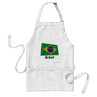 Français de Drapeau Brésil avec le nom en Tablier