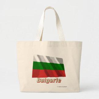 Français de Drapeau Bulgarie avec le nom en Sacs De Toile