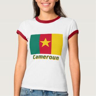 Français de Drapeau Cameroun avec le nom en T-shirt