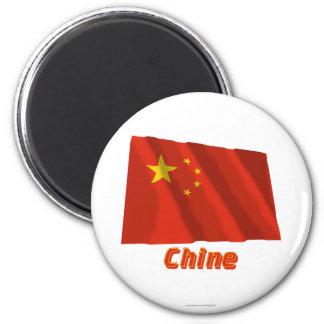 Français de Drapeau Chine avec le nom en Magnets Pour Réfrigérateur