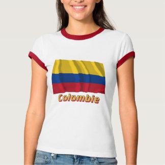 Français de Drapeau Colombie avec le nom en Tee-shirts