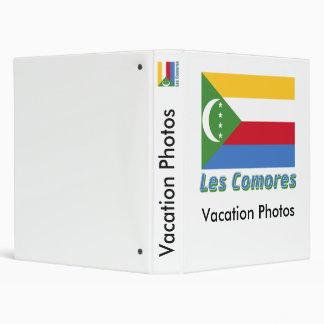 Français de Drapeau Comores avec le nom en