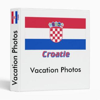 Français de Drapeau Croatie avec le nom en