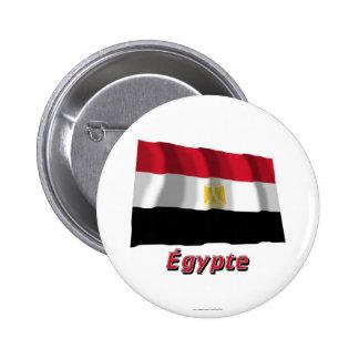 Français de Drapeau Égypte avec le nom en Badges